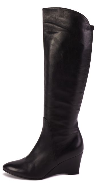 STUART WEITZMAN Black Leather Knee-high Boots
