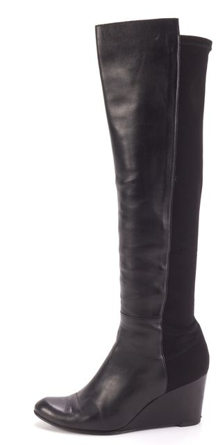STUART WEITZMAN Black Leather Knee-high Boots