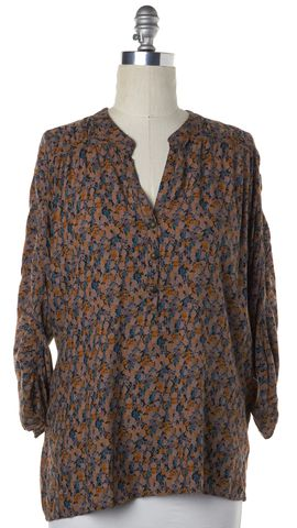 SANCTUARY CLOTHING Beige Multi Floral 1/2 Button Down Tunic