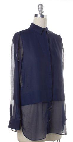 T BY ALEXANDER WANG Navy Blue Button Down Shirt