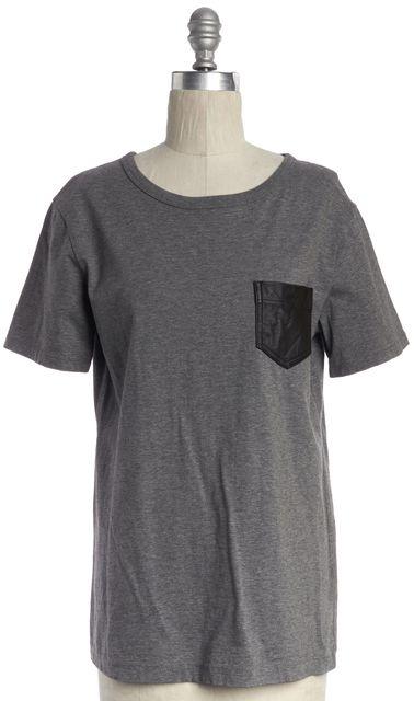 T BY ALEXANDER WANG Gray Basic Tee T-Shirt