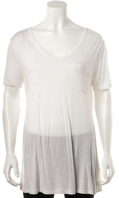 T BY ALEXANDER WANG White Short Sleeve Scoop Neck Basic T-Shirt