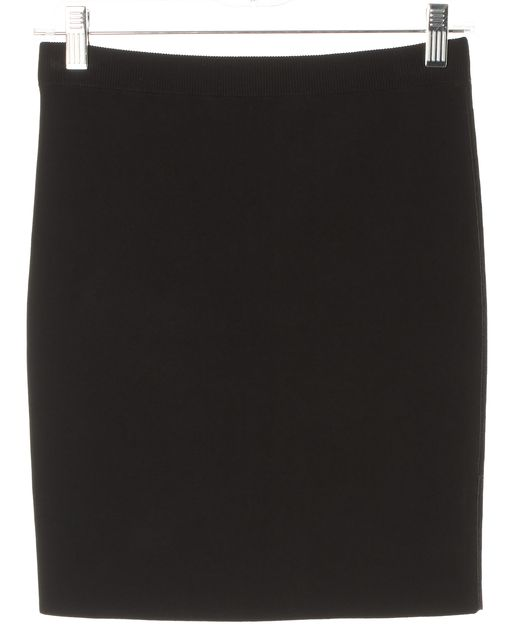 T BY ALEXANDER WANG Black Above Knee Stretch Knit Skirt