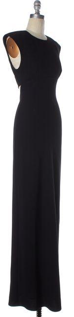 T BY ALEXANDER WANG Black Open Back Full Length Formal Sheath Dress