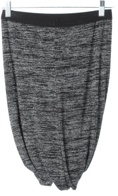 T BY ALEXANDER WANG Heather Gray Above Knee Stretch Knit Skirt