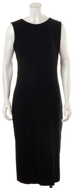 T BY ALEXANDER WANG Black Sleeveless Back Cutouts Stretch Bodycon Dress