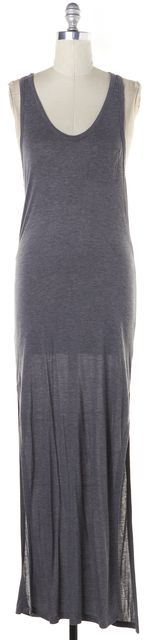 T BY ALEXANDER WANG Gray Sleeveless Racerback Maxi Dress