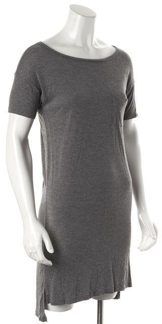 T BY ALEXANDER WANG Heather Gray T-Shirt Dress