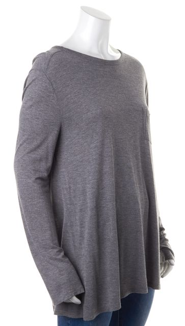 T BY ALEXANDER WANG Heather Gray Jersey Basic Long Sleeved Top