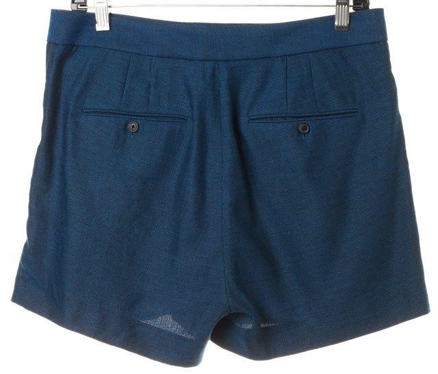 T BY ALEXANDER WANG Blue Black Speckled Linen Dress Shorts