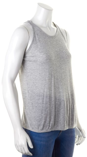 T BY ALEXANDER WANG Gray Ribbed Crewneck Tank Top