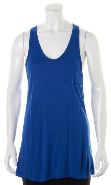 T BY ALEXANDER WANG Electric Blue Racerback Scoop Neck Tank Top