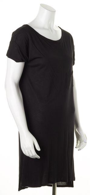 T BY ALEXANDER WANG Black Short Sleeve Basic T-Shirt Dress