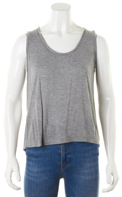 T BY ALEXANDER WANG Heather Gray Scoop Neck Basic Tank Top