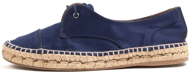TABITHA SIMMONS Blue Stain Lace -Up Espadrilles Platform Sneakers