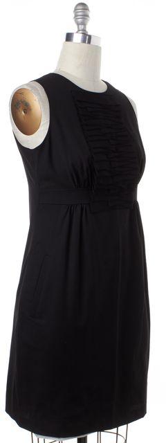TED BAKER Black Wool Cutout Sleeveless Sheath Dress