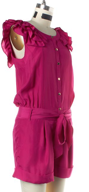 TED BAKER Pink Ruffle Sleeve Lanny Romper