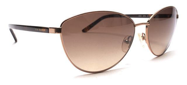 TED BAKER Gold Brown Cat Eye Sunglasses