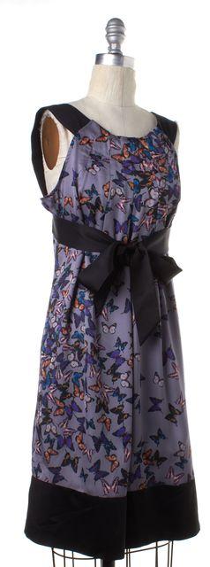 TED BAKER Gray Black Butterfly Sheath Dress