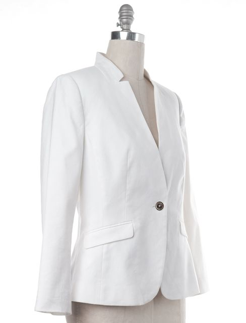 TED BAKER White Linen Suit Jacket Blazer