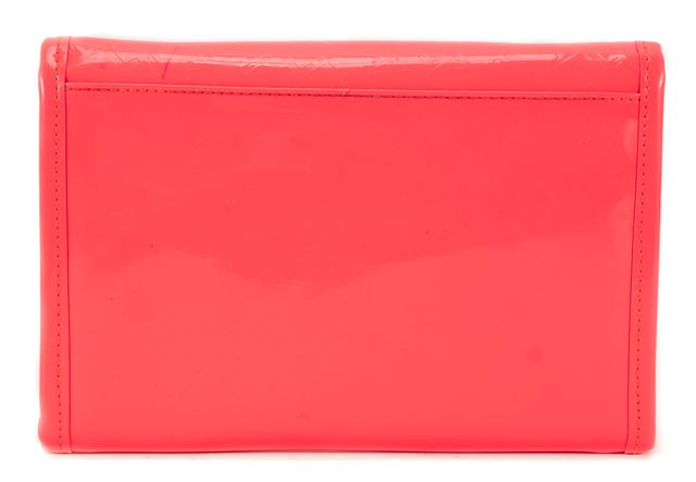 TED BAKER Bright Pink Patent Leather T Embossed Mini Tomoko Crossbody