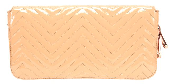 TED BAKER Beige Patent Leather Clutch