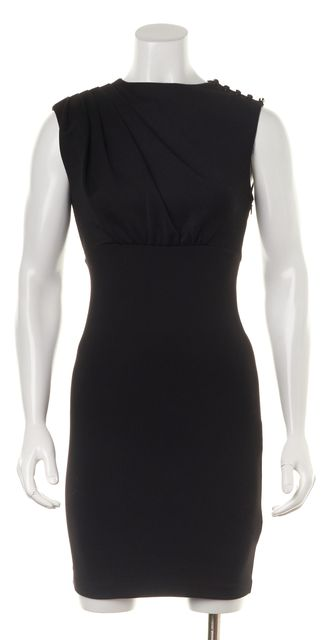 TED BAKER Black Embellished Shoulder Sleeveless Sheath Bridie Dress