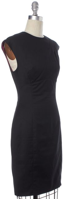 TED BAKER Black Wool Sleeveless Tinal Sheath Dress