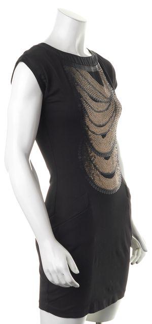 TED BAKER Black Sequin Embellished Bodycon Dress