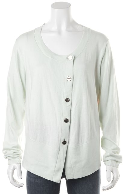 TED BAKER Green Knit Button Front Cardigan Sweater