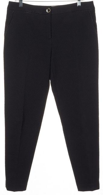 TED BAKER Black Mesh Overlay Rait Pleated Trouser Dress Pants