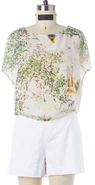 TED BAKER White Floral Dancing Leaves Print Jordann Romper