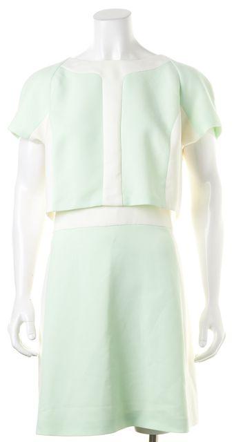 TED BAKER Ivory Mint Green Colorblock Dextra Shift Dress