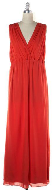TED BAKER Red Crepe Silk Empire Waist Maxi Dress Size TDB 4 US 10