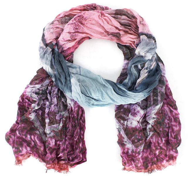 TED BAKER Mid Pink Purple Blue Road To Nowhere Nishma Scarf