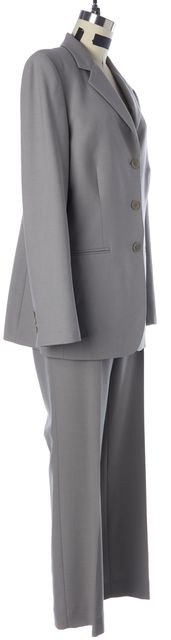 TED BAKER ENDURANCE Gray Wool Three-Button Blazer Pant Suit Set
