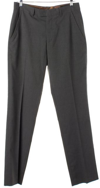 TED BAKER Gray Polyester Tailor Pleated Dress Pants