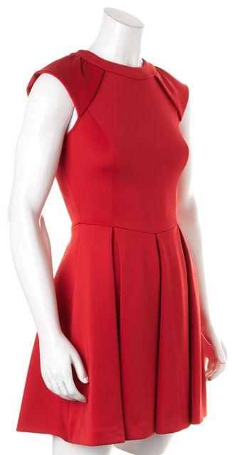 TED BAKER Red Cap Sleeve Kipp Fit & Flare Dress
