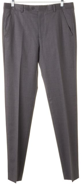 TED BAKER Gray Wool Pleated Trouser Dress Pants