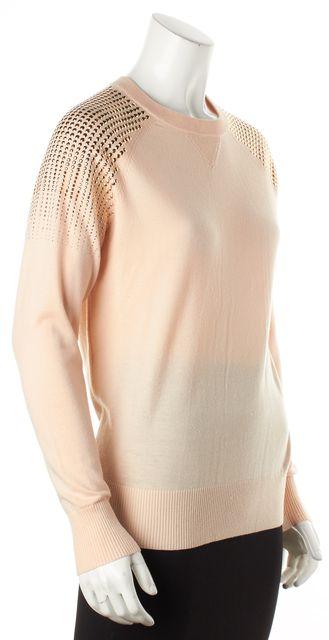 TED BAKER Pink Embellished Wool Crewneck Sweater
