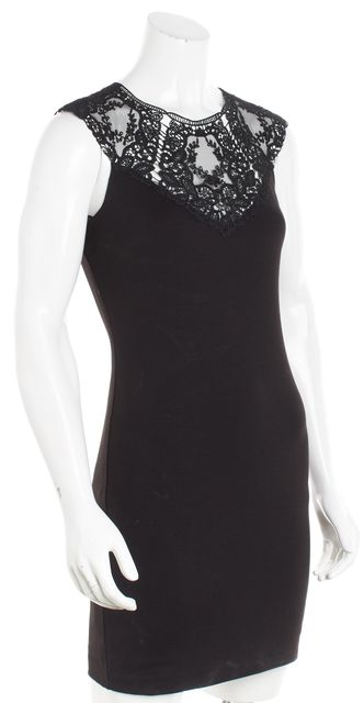 TED BAKER Black Lace Cap Sleeve Bodycon Dress