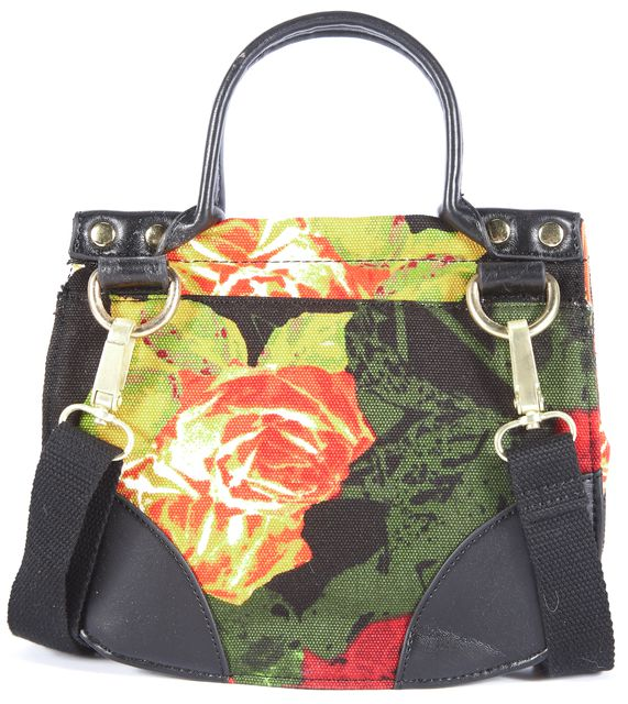 TED BAKER Black and Multi-Color Floral Mini Satchel