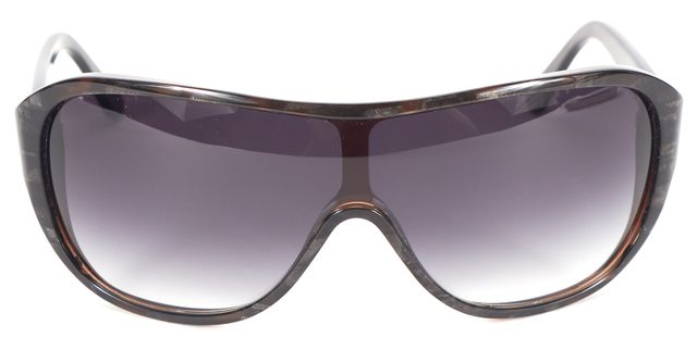 THAKOON Brown Gray Acetate Frame Gradient Lens Shield Sunglasses