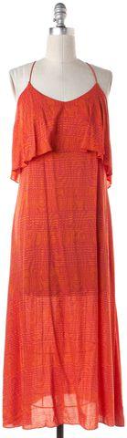THAKOON ADDITION Orange Abstract Print Maxi Dress