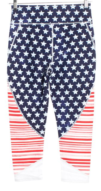 TOMMY HILFIGER SPORT Red White Blue Stars & Stripes Leggings