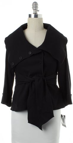 THEORY Black 3/4 Sleeve Pleated Back Basic Jacket