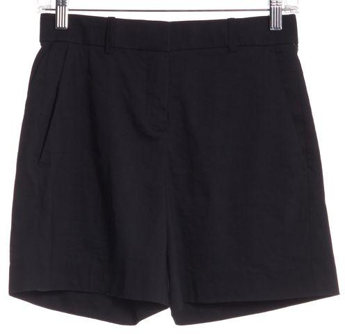 THEORY Navy Linen Dress Shorts