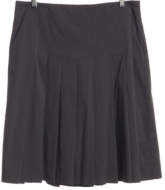 THEORY Gray Pleated Skirt