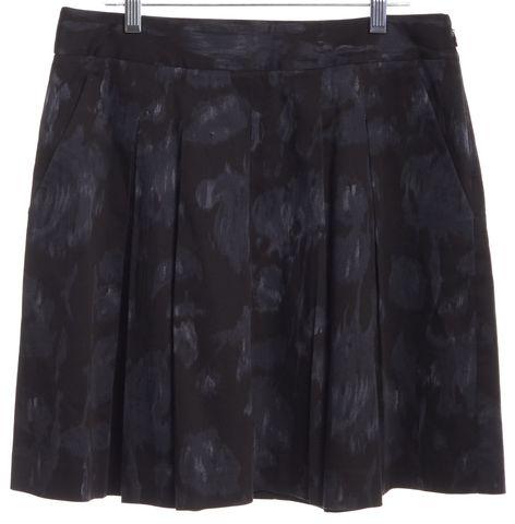 THEORY Black Blue Pleated Skirt