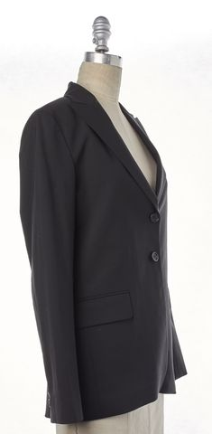 THEORY Black Stretch Wool Two Button Classic Blazer Jacket